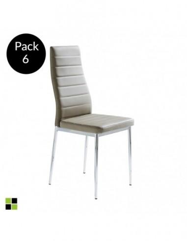 Pack 6 sillas Felia Capuchino