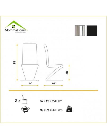 Sofá de diseño de 2 plazas Leco en blanco