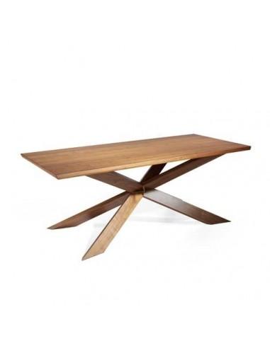 Mesa de comedor Cruz madera Nogal