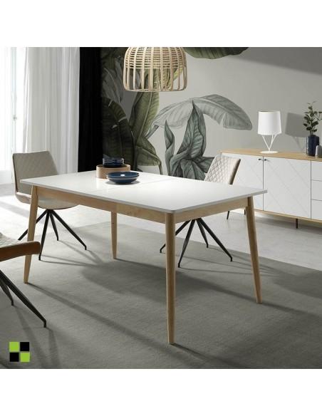 Sofá de diseño de 3 plazas mod. Leco en blanco