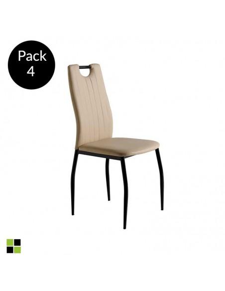 Pack 4 sillas Sofia capuchino