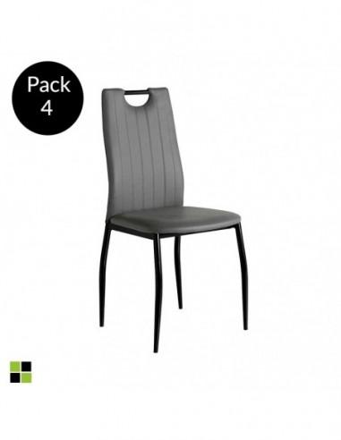 Pack 4 sillas Sofia gris