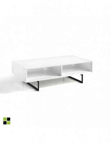Mesa de centro blanco brillo Sena