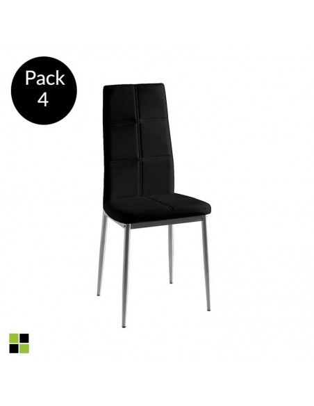 Pack de 4 sillas Lara negra