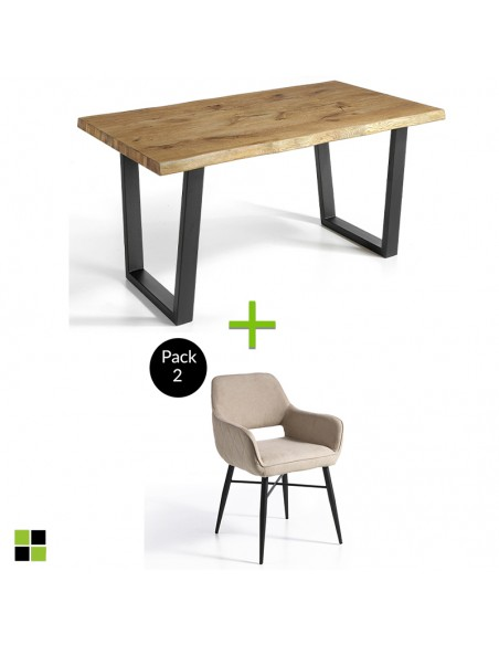 Pack mesa Madeira + sillas...