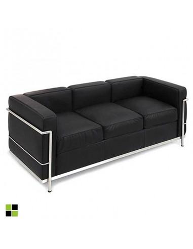 Sofá de 3 plazas Leco - Negro