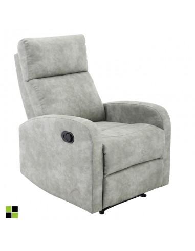Sillón relax Tavira en tela gris