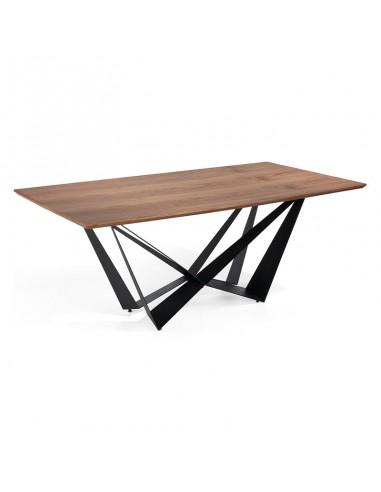 Mesa rectangular en nogal Sinde