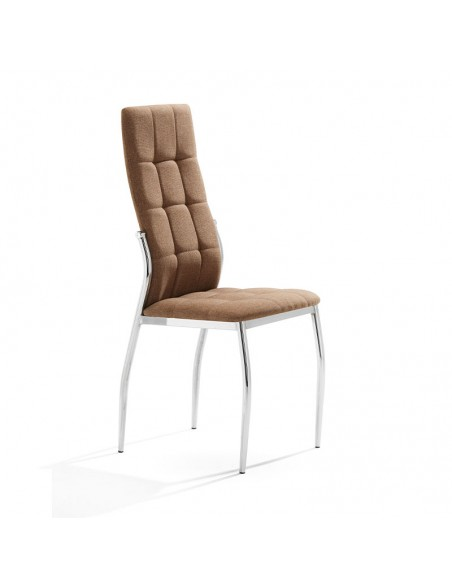 Pack 4 sillas Cami tela marrón