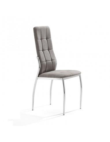 Pack 4 sillas Cami en tela gris claro