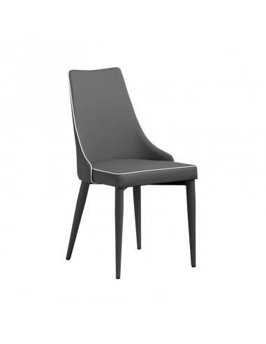 Pack 2 sillas Polka gris con bordón...