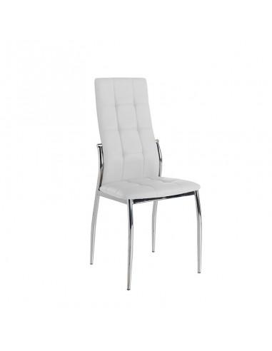 Pack 4 sillas Cami polipiel blanca