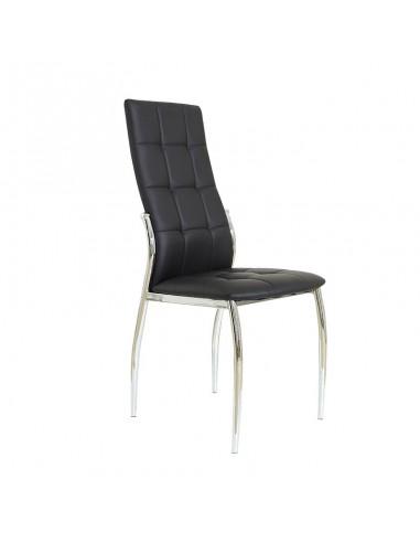 Pack 4 sillas Cami polipiel negra