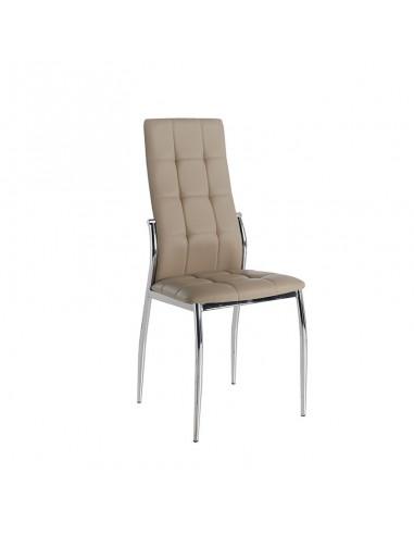 Pack 4 sillas Cami  polipiel capuchino