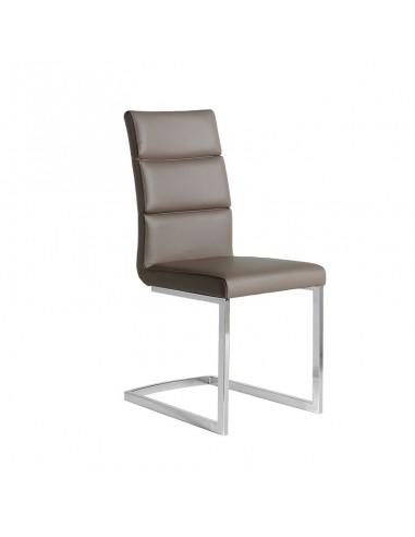 Pack 4 sillas Milo polipiel marrón