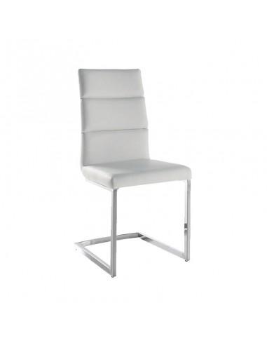 Pack 4 sillas Milo polipiel  blanca