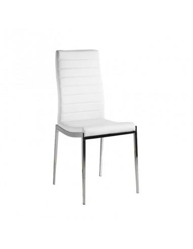 Pack 4 sillas Silvestre polipiel blanca