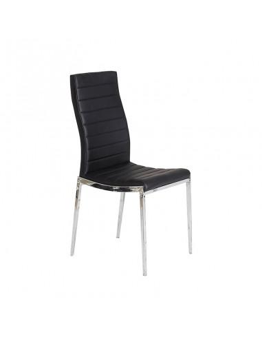 Pack 4 sillas Silvestre polipiel negra