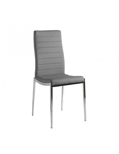 Pack 4 sillas Silvestre polipiel gris