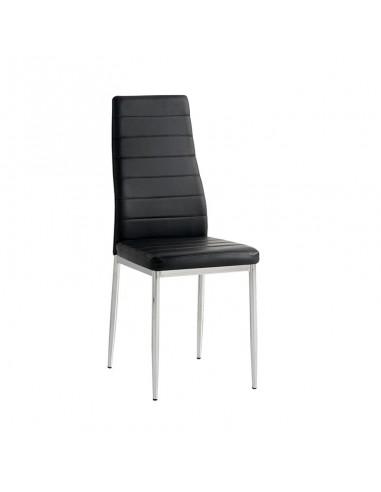 Pack 6 sillas Felia polipiel negra