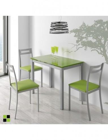 Mesa Calcuta + 3 sillas Pamis